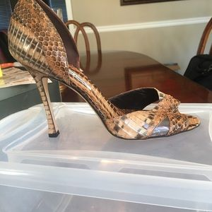 Manolo Blahnik Shoes - Snake skin great condition